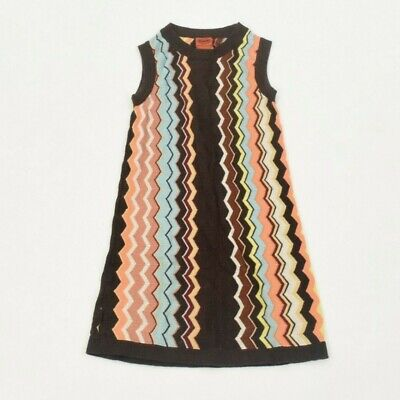 Girls Missoni for Target Sweater Dress M Colorful Chevron Pattern Sleeveless