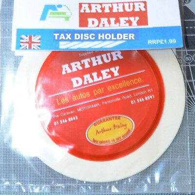 Arthur Daley Motorama Tax Disc Parking Permit Holder Ford Vauxhall Rover BMW