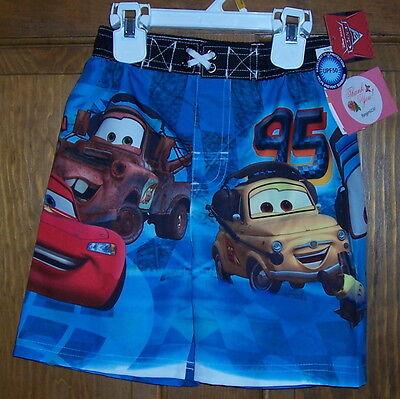 Disney Pixar Tow Mater McQueen Cars 2 Swim Suit Trunks Shorts Boys Size 3T $22