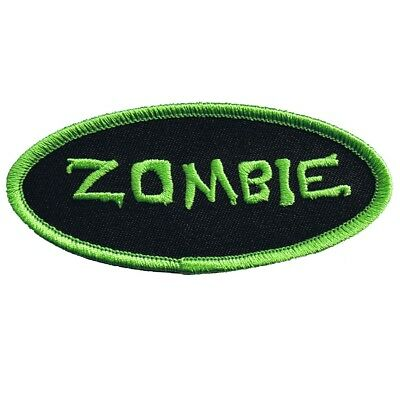 Style Name Tag - Zombie Patch - Oval Name Tag Style, Neon Green (Iron on)