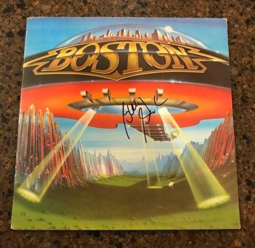 * BARRY GOUDREAU * signed autographed vinyl album * BOSTON * DONT LOOK BACK * 2