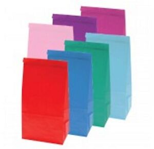 PAPER-PARTY-LOOT-TREAT-GIFT-GOODY-BAGS-ALL-COLOURS-ALSO-POPCORN-BAGS-BOXES