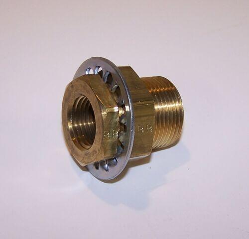 "Parker Bulkhead Fitting Brass 1/2"" NPT - P/N 207ACBH-8"