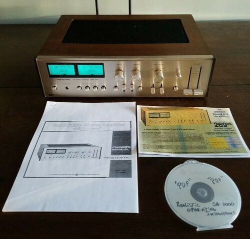 Realistic SA-2000 Integrated Amplifier! Just Serviced! L@@K!
