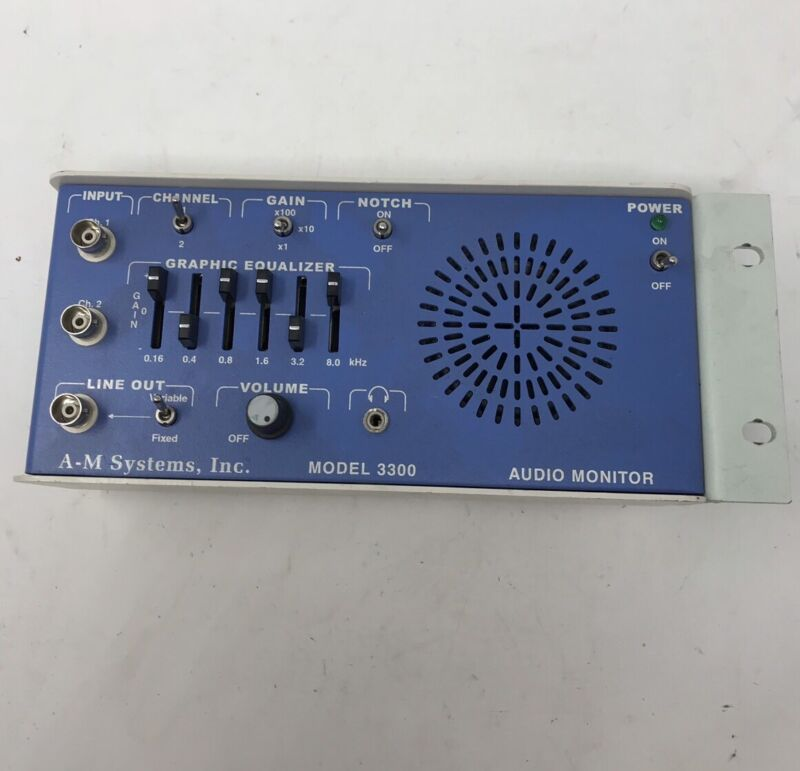 A-M Systems Model 3300 Audio Monitor AM A M