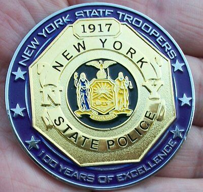 New York State Police 100th Anniversary Centennial Challenge Coin -NYSP not NYPD