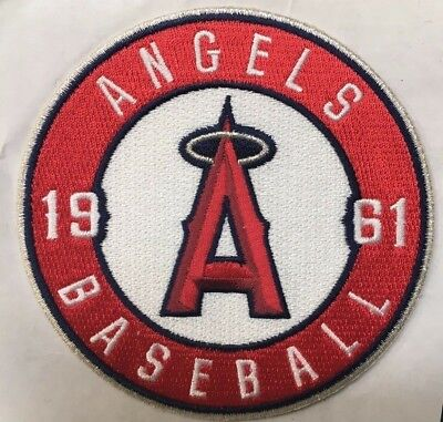 Los Angeles Angels Of Anaheim 1961 Round Sleeve Jersey Patch Baseball MLB 4