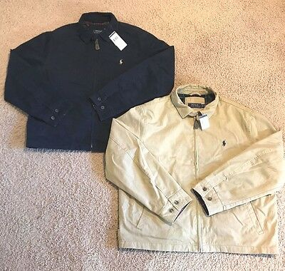NEW Polo Ralph Lauren Jacket Mens Chino Coat Pony Logo Canvas