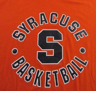 SYRACUSE BASKETBALL Orangemen Syracuse University NCAA T Shirt Size XL Syracuse University Basketball