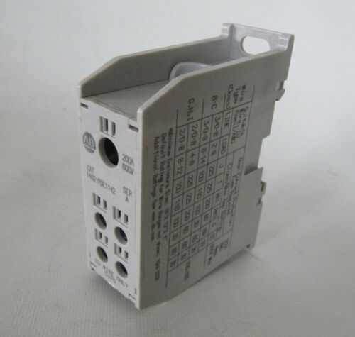 Allen-Bradley Power Distribution Block 200A 600V Cat. 1492-PDE1142 Ser A