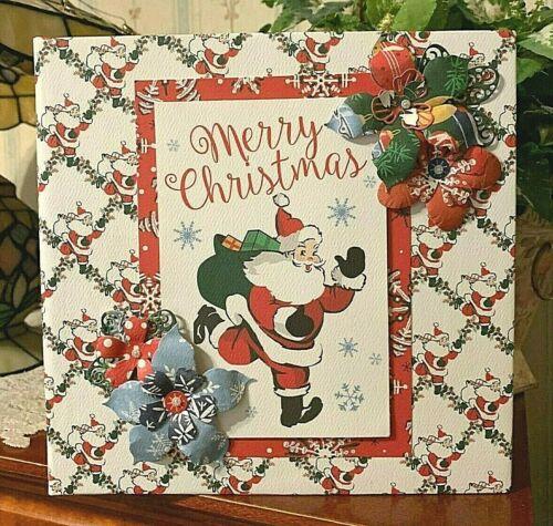 """TPHH Premade Handmade """"Merry Christmas"""" Scrapbook Album"""