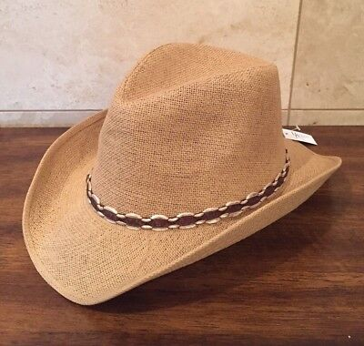 Women's / Ladies Tan Western Cowgirl Hat  (Cowgirl Hat)