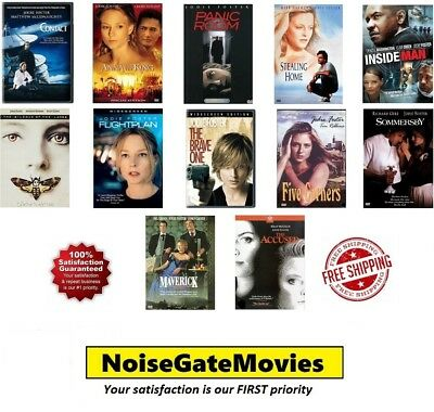 Jodie Foster 12 Film Collection DVD: Contact, Stealing Home, The Brave One, Etc.