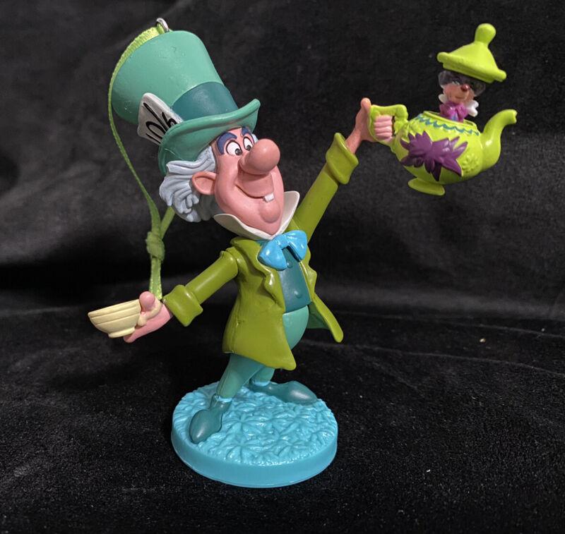 Disney Alice in Wonderland Christmas Ornament Mad Hatter Tea Party