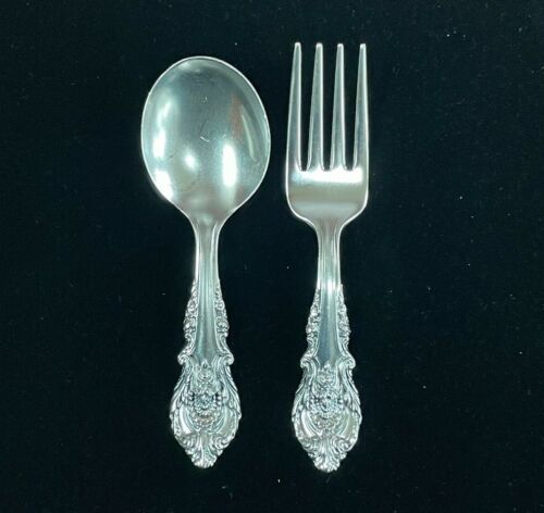 Wallace Sir Christopher sterling silver baby fork and spoon set