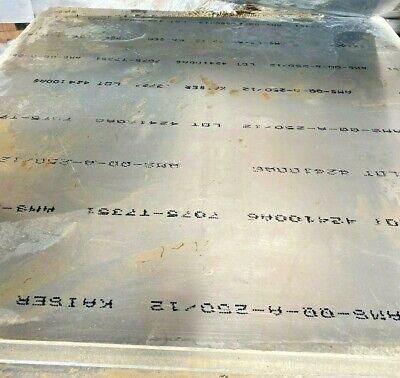 38 - 7075 T7351 Aluminum Plate 24 X 48 X .375