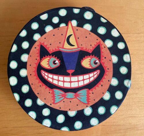 Department 56 Black Cat Tambourine Halloween Decor Decoration Art Dept Cheshire
