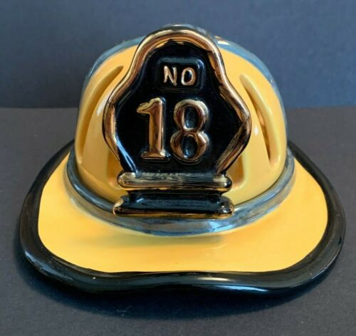 Vanmark Red Hats of Courage 2001 No 18 Yellow Helmet Hat Covered Votive Holder
