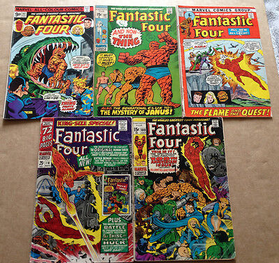 FANTASTIC FOUR # 100/107/117/161 & ANNUAL # 4 (5 ISSUES) MARVEL 1966-1975