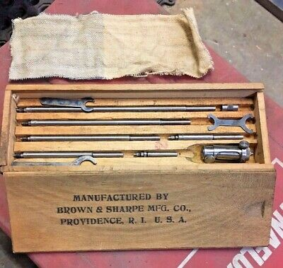 Brown And Sharpe 264 Inside Micrometer 2 To 8 Machinist Tool Box Find