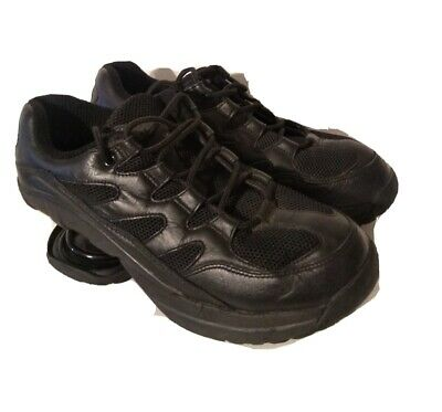 Z-Coil Freedom Men's Size 9 Black Leather Pain Relief Shoes