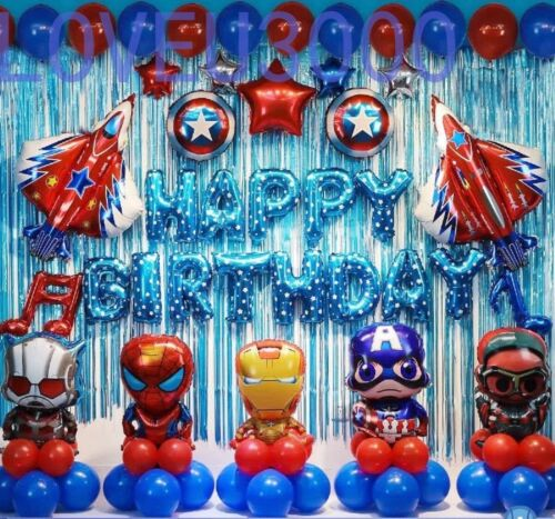 Avengers Party supplies Avengers birthday decorations Superhero Balloons set
