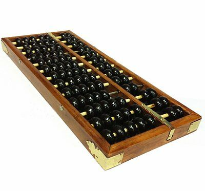Chinese Wooden Abacus - School Office Calculation Abacus Soroban Wood Calculator