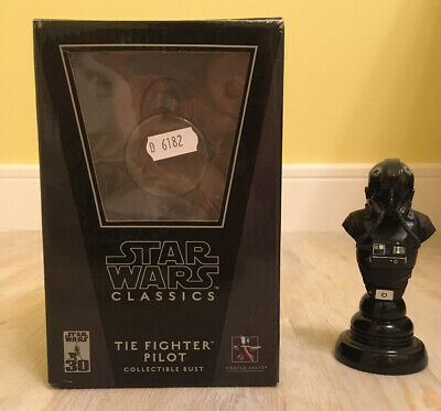 Star Wars Gentle Giant Tie Fighter Pilot Limited Edition Classics Mini Bust MIB