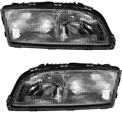 Headlamps Headlight Assembly (w/Bulb) Pair Set for Volvo 98-02 C70 98-00 S70 V70
