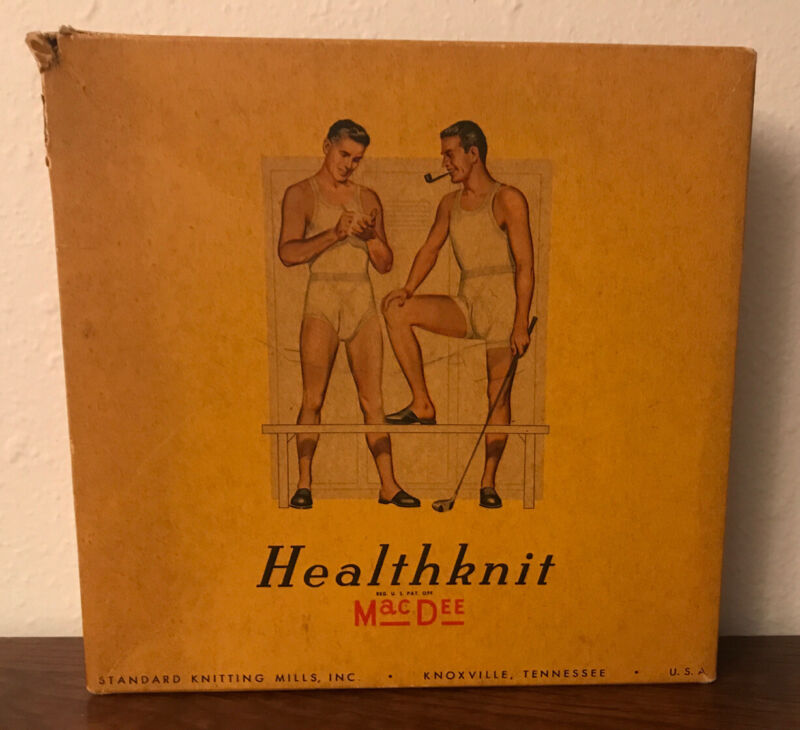 Vintage 1950s MacDee Healthknit Men's Underwear Briefs Empty Box Advertising