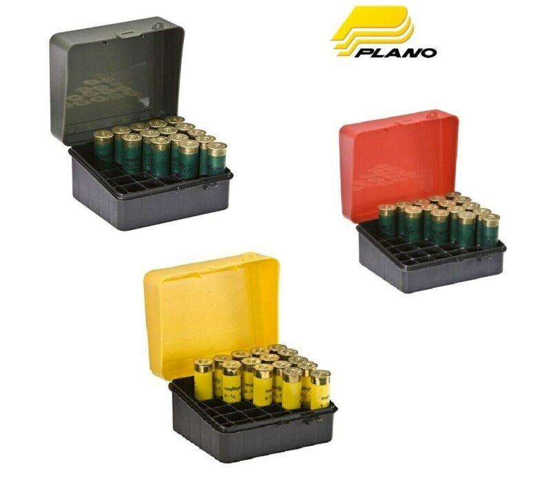 Plano 25 Count Shotgun Shot Shell Ammo Hard Case Gun Ammunition 12 16 20-Gauge