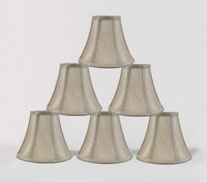 Chandelier Mini Lamp Shade Softback Bell Champagne 3
