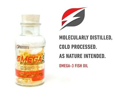 Omega-3 5000MG Molecularly Distilled Cold Pressed Fish Oil (120 Softgels) SG