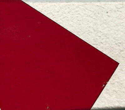 Red Transparent Acrylic 2423 Plexiglass Sheet 18 Thick 12 X 12