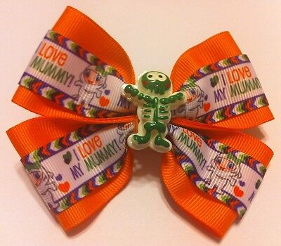 Halloween Mummy Hair (Girls Hair Bow 4