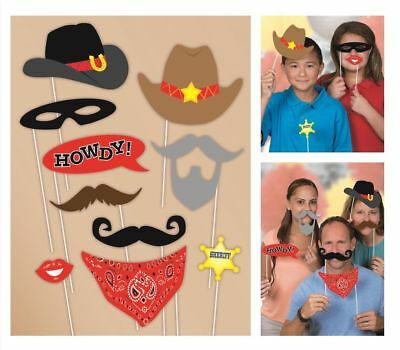 Western Photo Props 10 Count - Western Prop