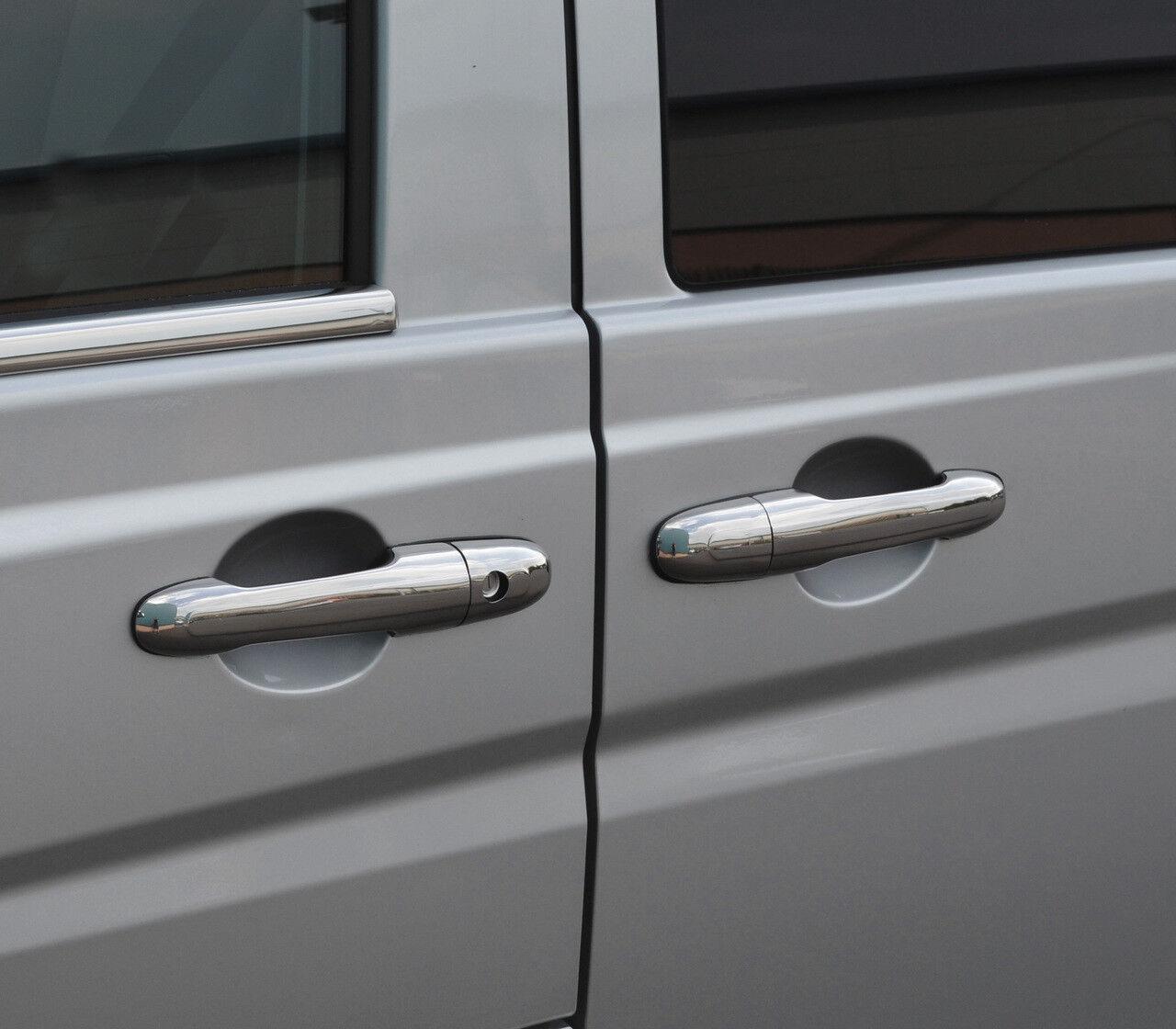 Tapa para manilla de puerta trasera de cromo 1dr para Vito W639 03-14