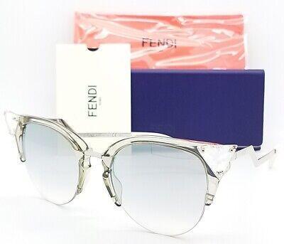 New Fendi sunglasses Iridia FF0041/S 27C 52 Palladium Grey Mirror AUTHENTIC (Fendi Iridia Sunglasses)
