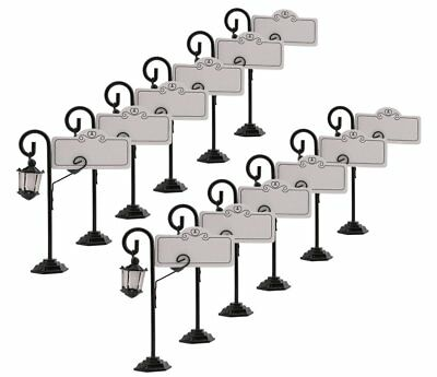 DriewWedding 12PCs 4 Inch Table Place Card Holders for Weddings, Street Light