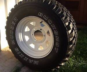 100% MUD TYRE M/T ON 15X7 SUNRAYSIA WHEEL 6x139.7 6 STUD 4WD 4X4 Kallangur Pine Rivers Area Preview