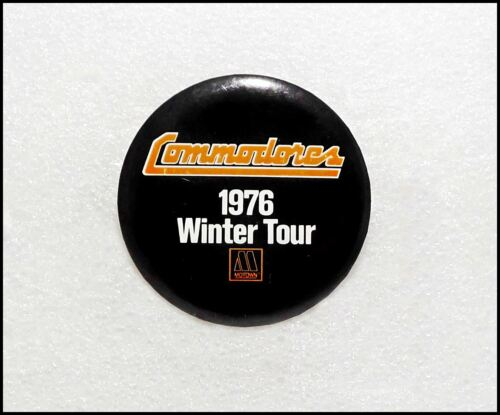Commodores 1976 Winter Tour Concert Button Pin Badge Motown Records