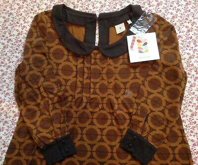 *free Postage* Rare Orla Kiely Uniqlo Peter Pan Collar dress / tunic Japanese S