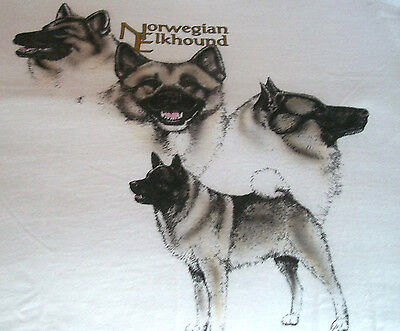 "Norwegian Elkhound T-shirt  "" Natural "" Small ( 34 - 36 )"