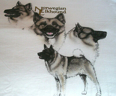 "Norwegian Elkhound T-shirt  "" Natural "" Small ( 34 - 36 )"