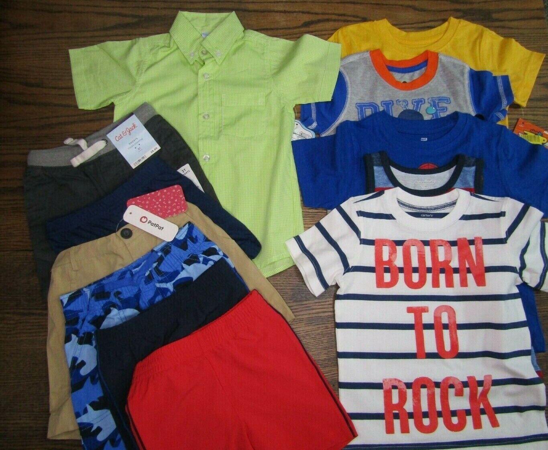 Toddler Boys 12 Piece Mixed Clothing Lot 2T Shirts Tops Shor