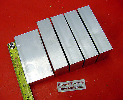 5 Pieces 58 X 2 Aluminum 6061 Flat Bar 4 Long T6511 Solid Plate Mill Stock