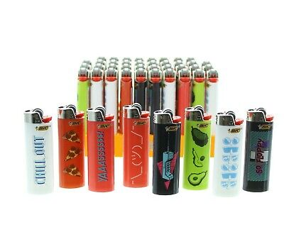 Pack of 50 Bic Trends Lighters Assorted Lighter Display with Tray POS Bulk Lot - Bulk Lighters