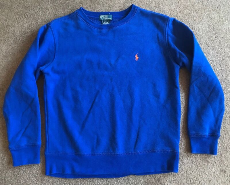 Boys Youth Polo Ralph Lauren Blue Crewneck Sweater Size Small EUC