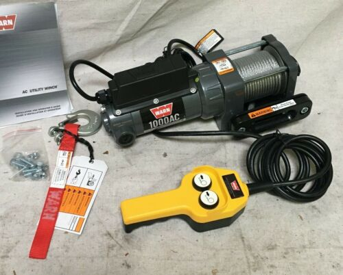 WARN 80010 115V AC Pulling Electric Winch with 6.6 fpm 1000 lb 1st Layer Load