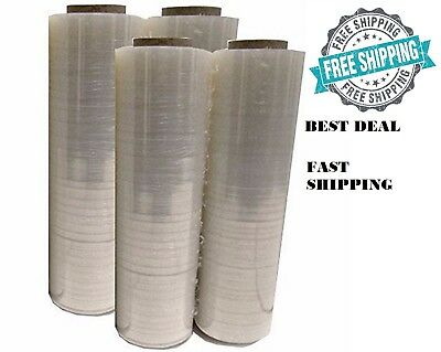 4 Plastic Shrink Hand Stretch Wrap Roll 18 X 1500 80 Gauge Film Clear Pvc Body